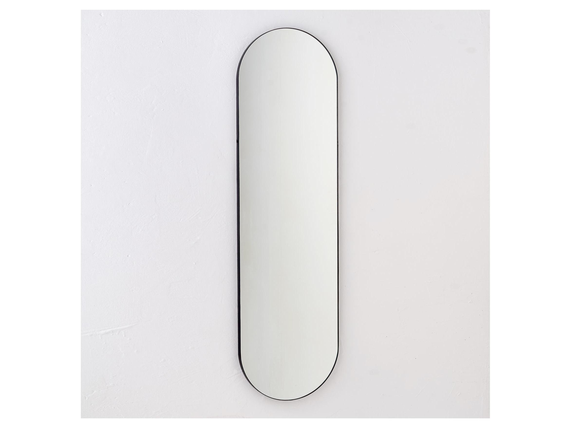 Овальное зеркало в полный рост banska ippo (banska) черный 40x140x3 см.