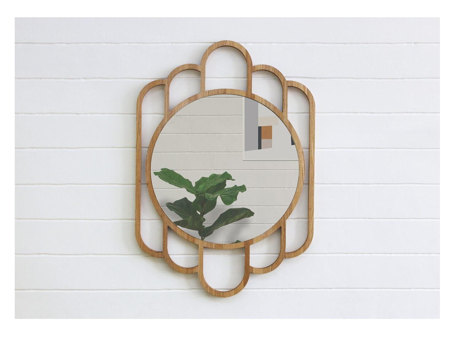 Деревянное зеркало santa b (banska) коричневый 65x80x5 см.