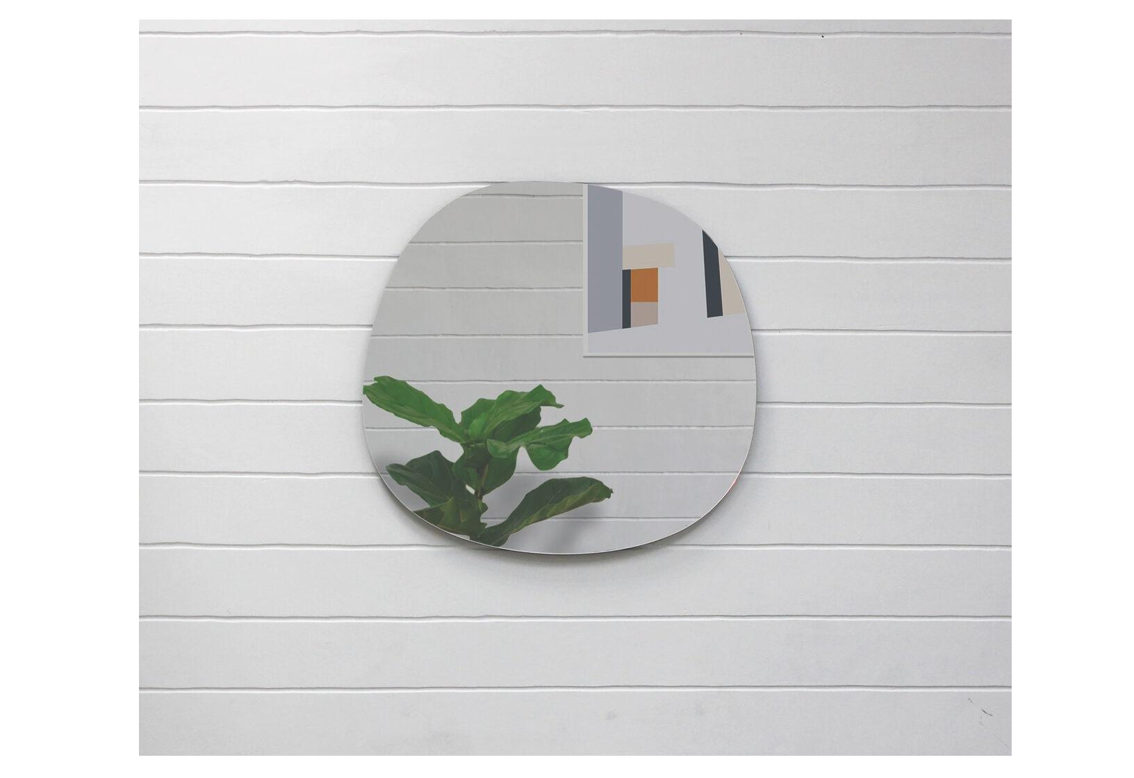 Зеркало неправильной формы tatra b (banska) серебристый 65x57x3 см.