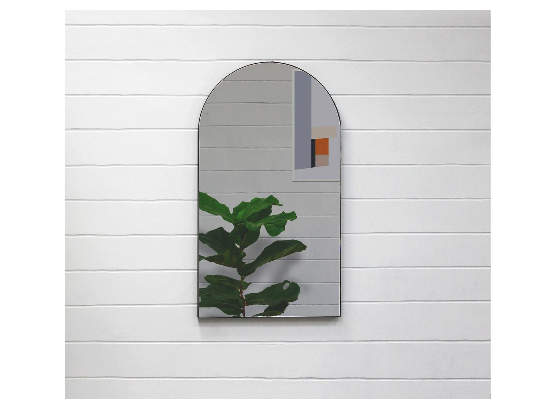 Арочное зеркало banska (banska) черный 45x80x3 см.