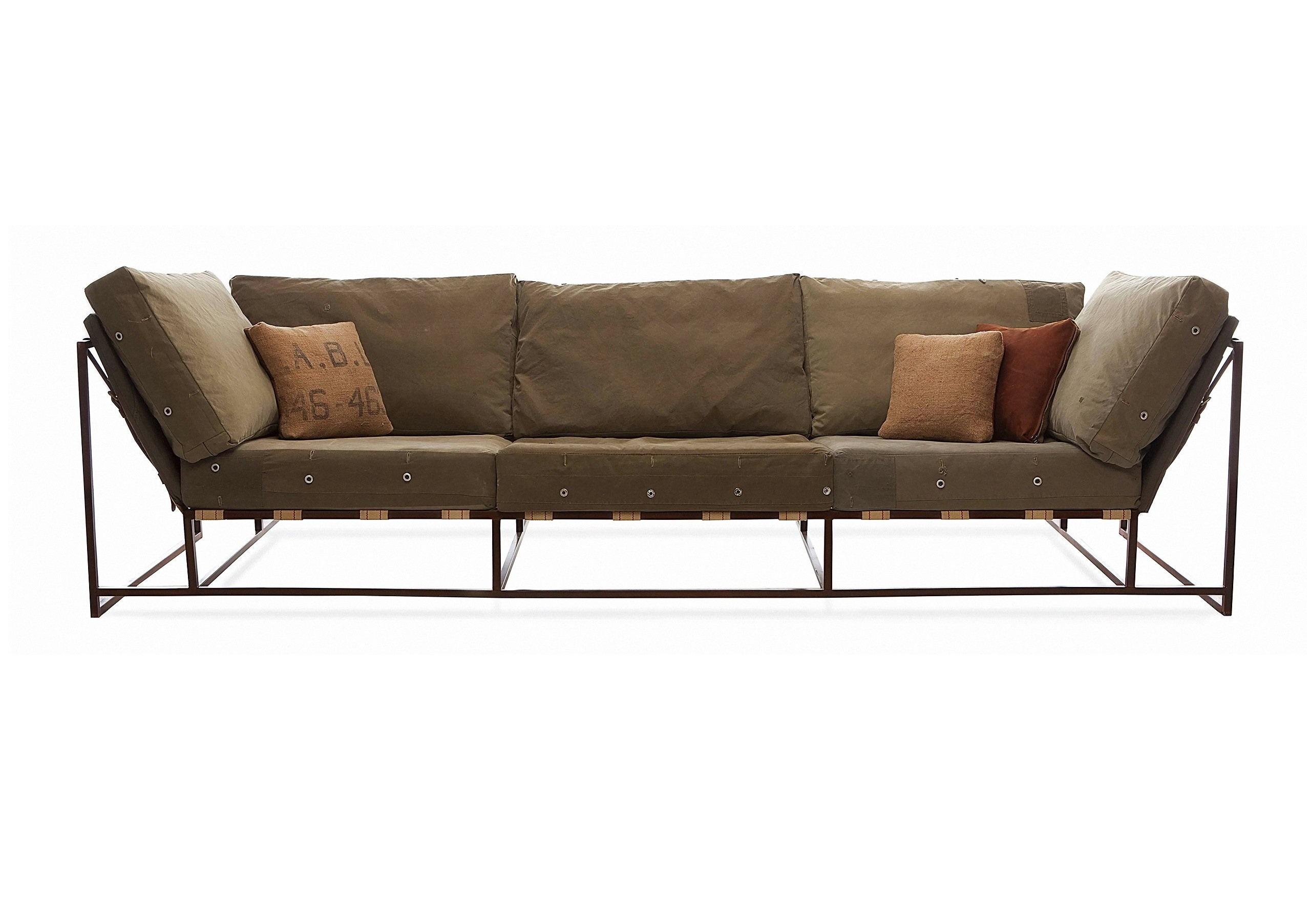 The_sofa трехместный диван милитари зеленый 134332/1