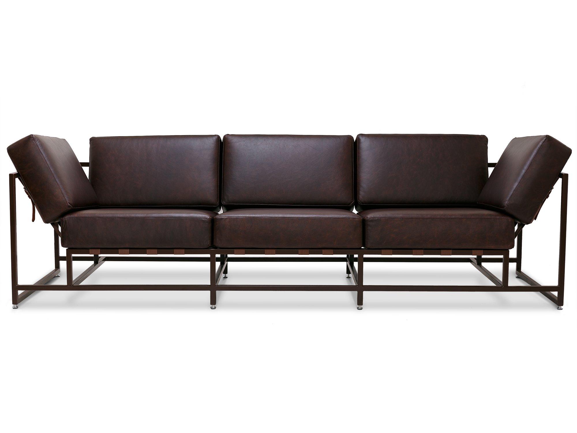 The_sofa трехместный диван лорд коричневый 134334/7