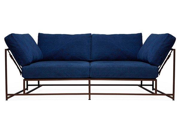 The_sofa двухместный диван дэним синий 134341/7