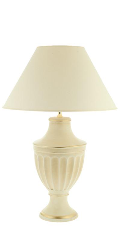 Лампа Романо ГомадаДекоративные лампы<br>Цвет: бежевый<br><br>Material: Керамика<br>Height см: 41<br>Diameter см: 22