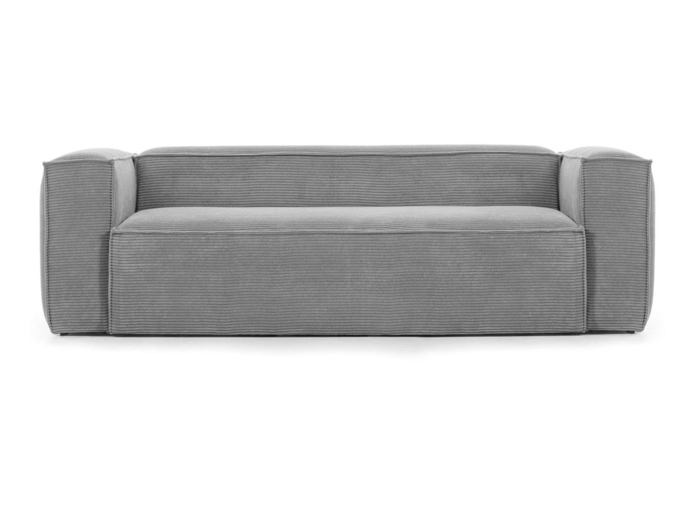 La forma диван трехместный blok серый 134709/4