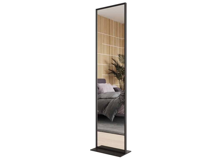 Зеркало zeliso (genglass) черный 45x185x25 см.