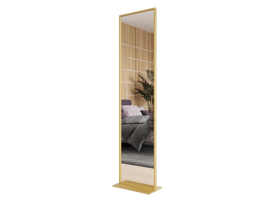 Зеркало zeliso (genglass) золотой 45x185x25 см.