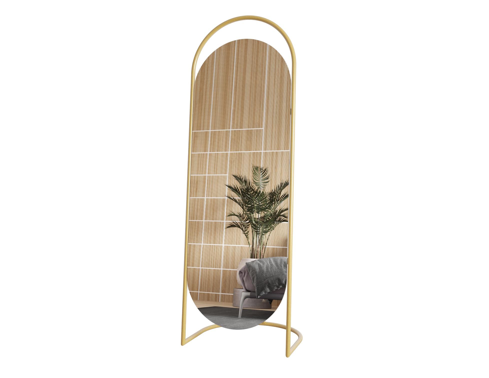 Зеркало evelum (genglass) золотой 54x165x5 см.