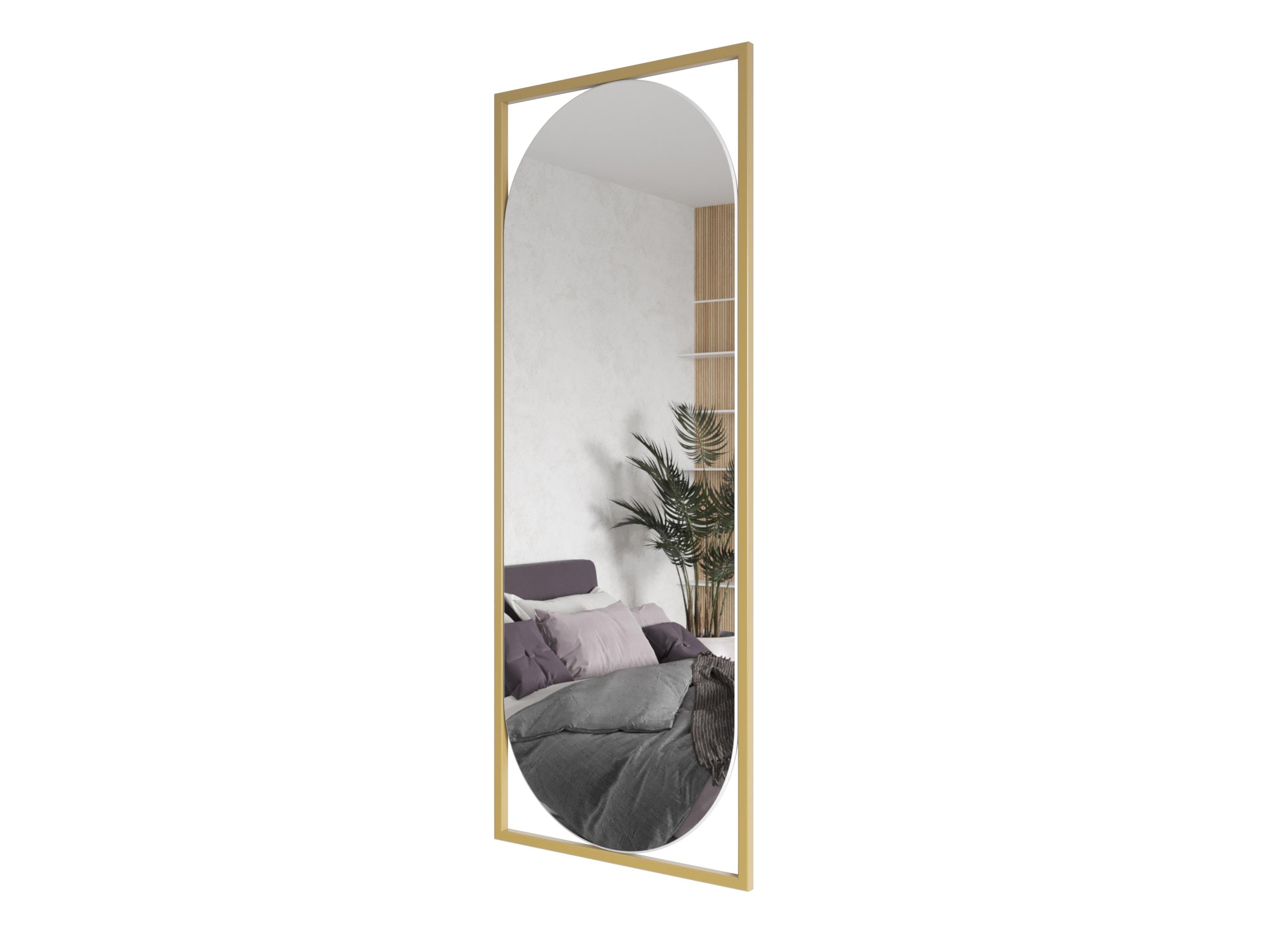 Зеркало kvaden (genglass) золотой 54x139x2 см.