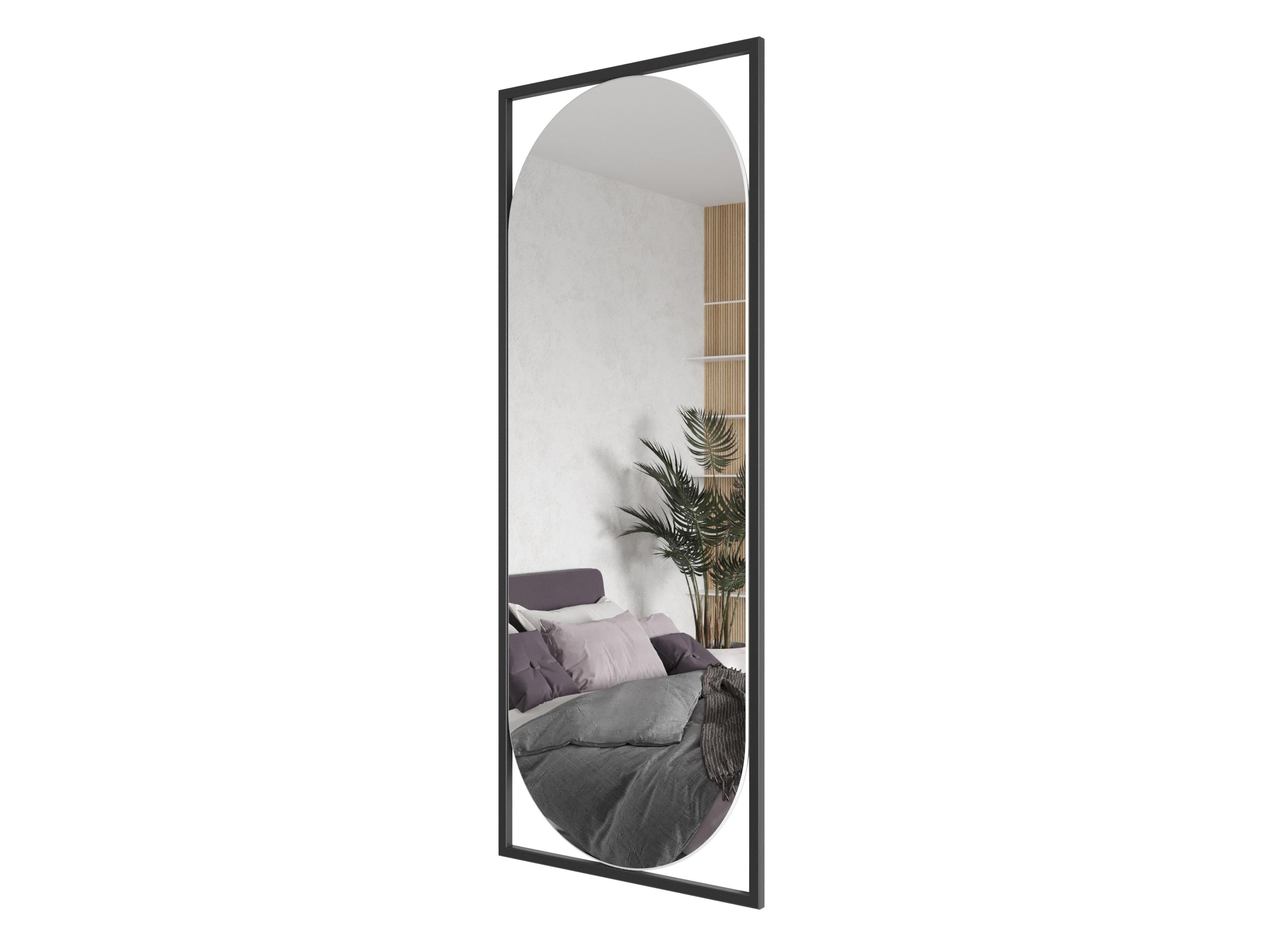 Зеркало kvaden (genglass) черный 54x139x2 см.