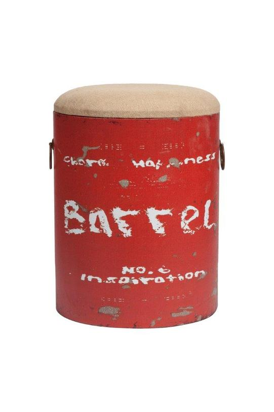 Табурет Barrel RedТабуреты<br>Цвет: Красный<br><br>Material: Железо<br>Width см: None<br>Height см: 46<br>Diameter см: 34