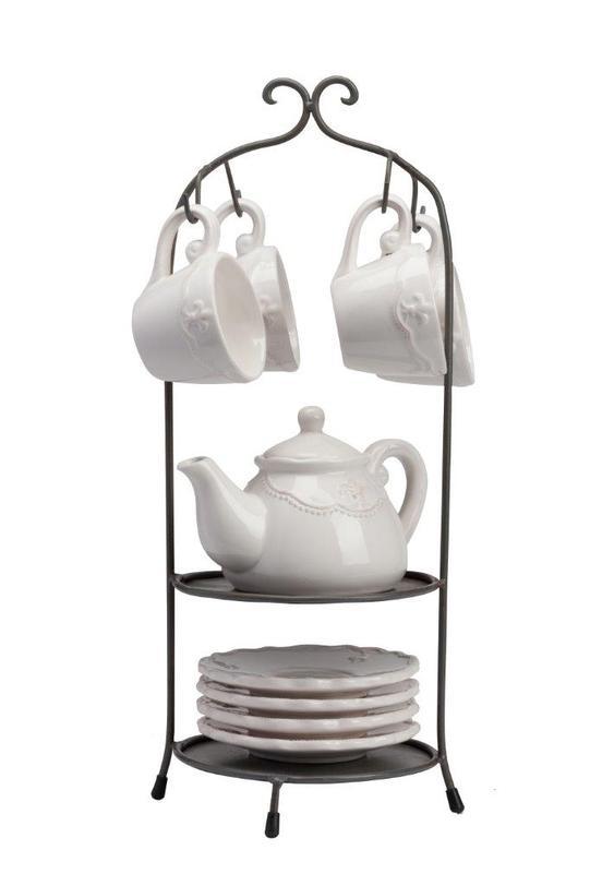 Чайный сервиз TreffenЧайные сервизы<br>Материал: грубая керамика, сталь<br><br>Material: Керамика<br>Length см: 17.78<br>Width см: 17.78<br>Depth см: None<br>Height см: 43.18<br>Diameter см: None
