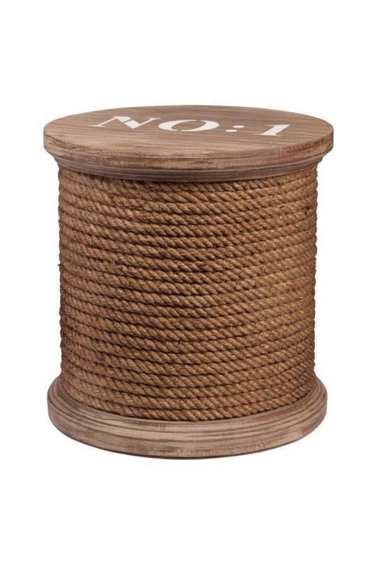 Столик-табурет EstebanПриставные столики<br>Материал: дерево (ель), джут<br>Цвет: коричневый, белый<br><br>Material: Дерево<br>Height см: 39<br>Diameter см: 40