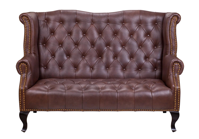 Mak-interior диван из кожи royal sofa brown коричневый 136116/2