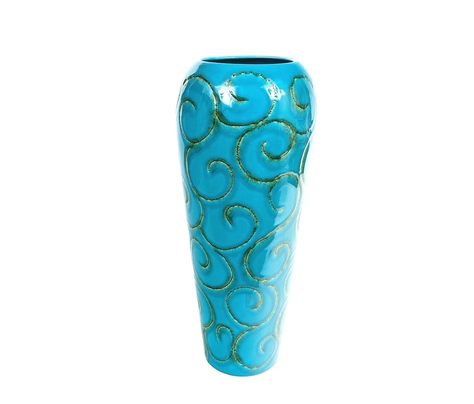 Напольная вазаВазы<br>Материал: голубая глина<br><br>Material: Керамика<br>Высота см: 52