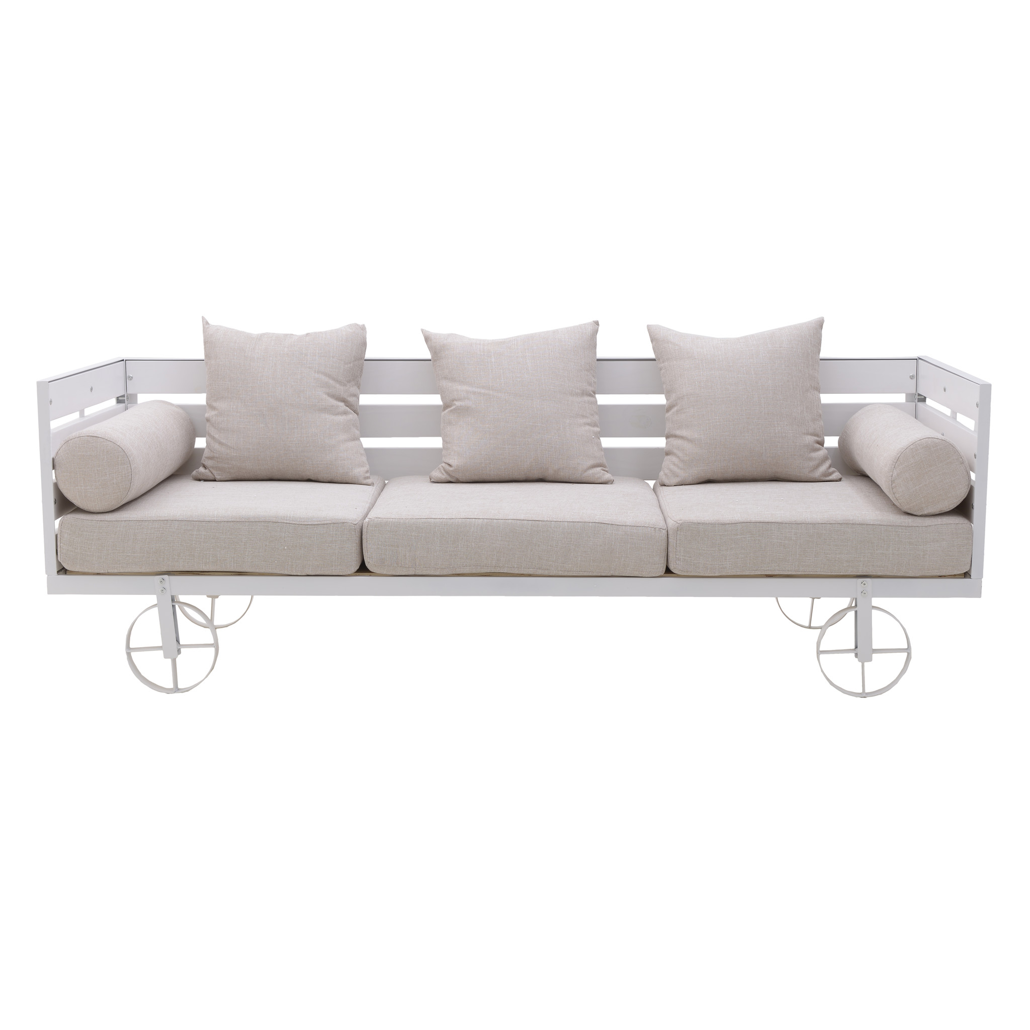 To4rooms диван трехместный zealous белый 136422/2