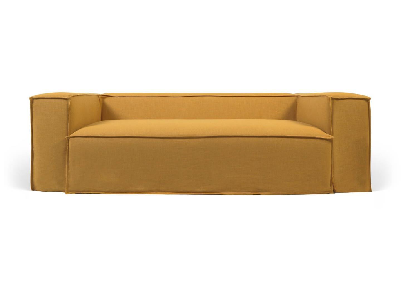 La forma трехместный диван blok со съемными чехлами желтый 137427/8