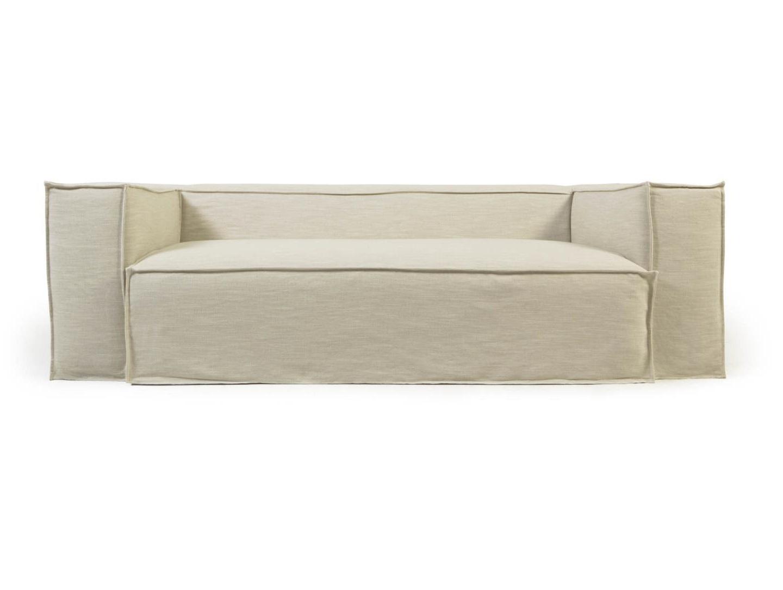La forma трехместный диван blok со съемными чехлами белый 137426/3