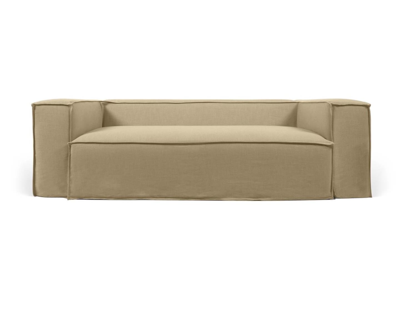 La forma диван трехместный blok со съемными чехлами бежевый 137425/8