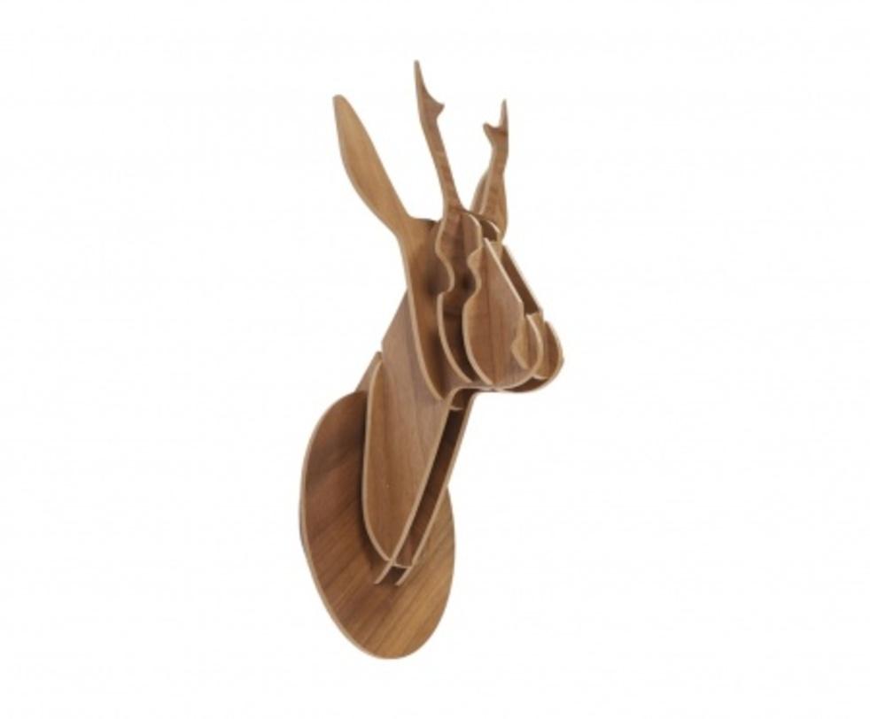 Декоративная голова оленя Brown SmallФигуры<br>Декоративная голова животного, собирается как деревянный пазл<br><br>Material: МДФ<br>Length см: 20.0<br>Width см: 20.0<br>Depth см: None<br>Height см: 45.0<br>Diameter см: None