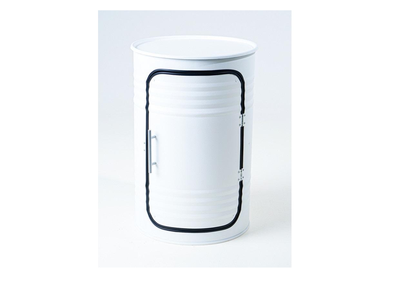 Журнальный столик-бочка pro white (starbarrel) белый 68 см.