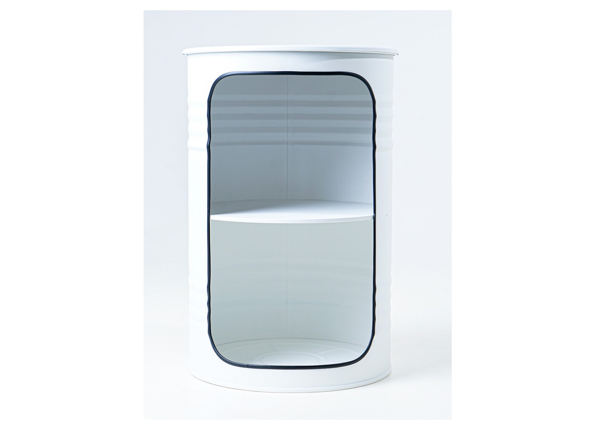 Журнальный столик-бочка x white (starbarrel) белый 68 см.