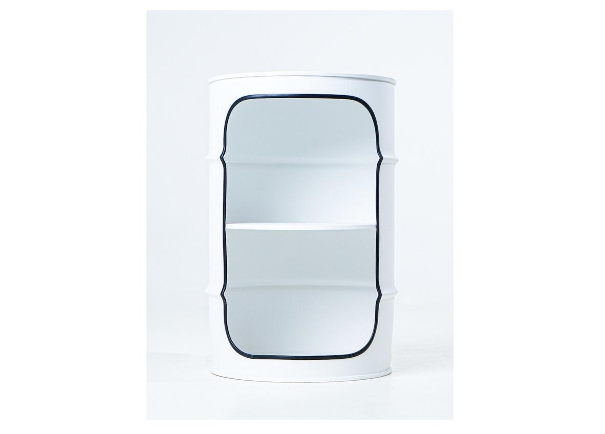 Журнальный столик-бочка pro black (starbarrel) белый 56 см.