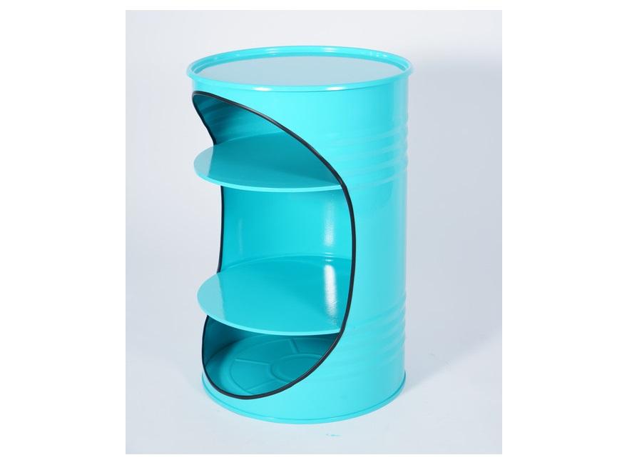 Журнальный столик-бочка x2 (starbarrel) голубой 68 см.