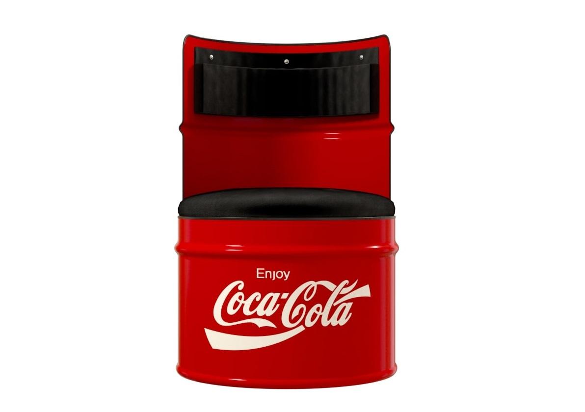 Бочка-кресло coca-cola (starbarrel) красный 58x86x58 см.