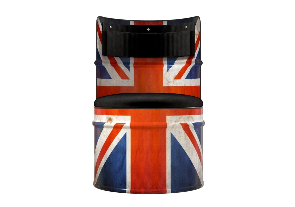Бочка-кресло england (starbarrel) мультиколор 58x86x58 см.