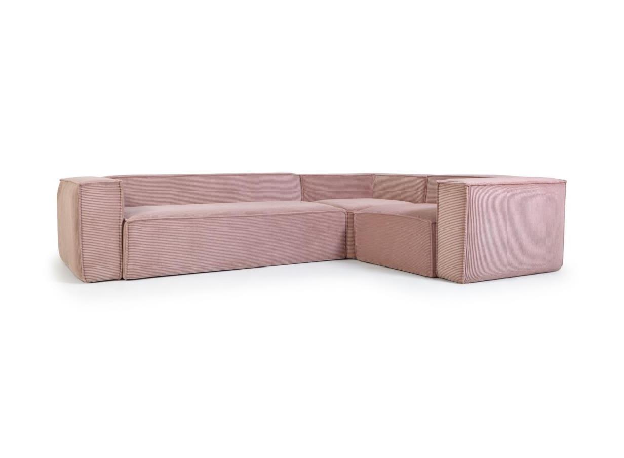 La forma угловой четырехместный диван blok розовый 138208/4