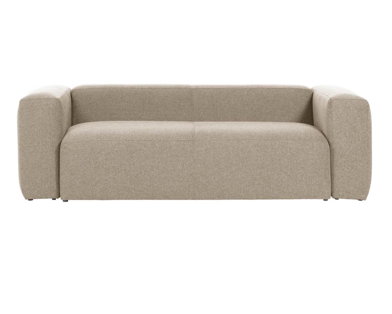 Mak-interior диван двухместный blok бежевый 138210/7