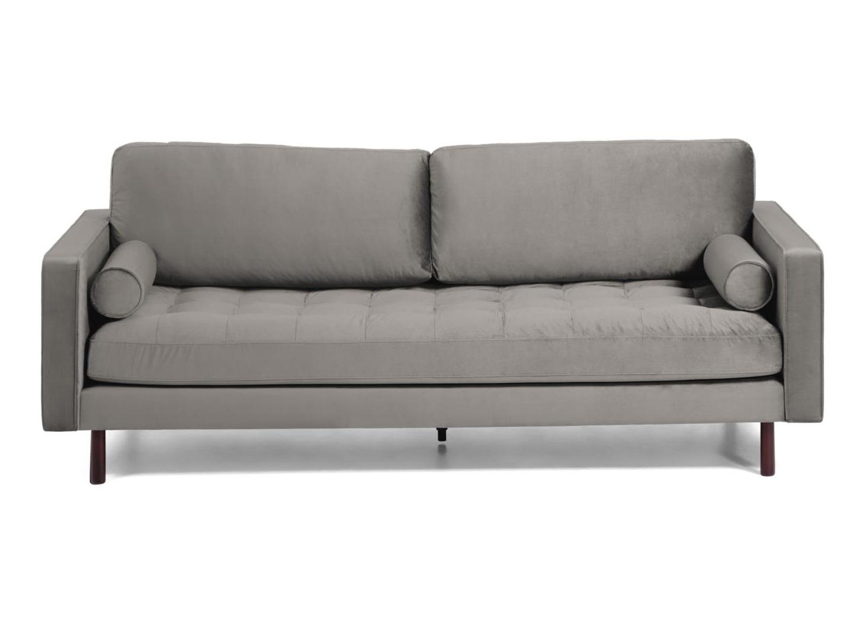 La forma диван трехместный bogart серый 138232/6