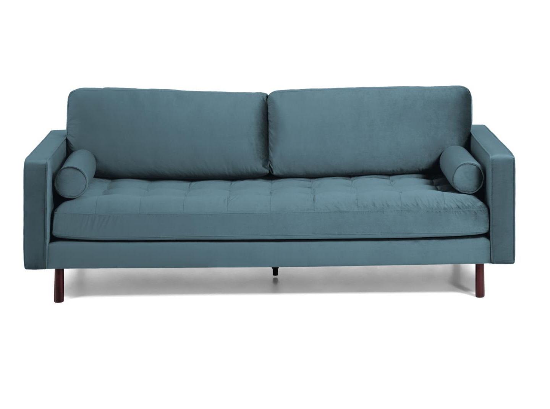 La forma диван трехместный bogart голубой 138231/8