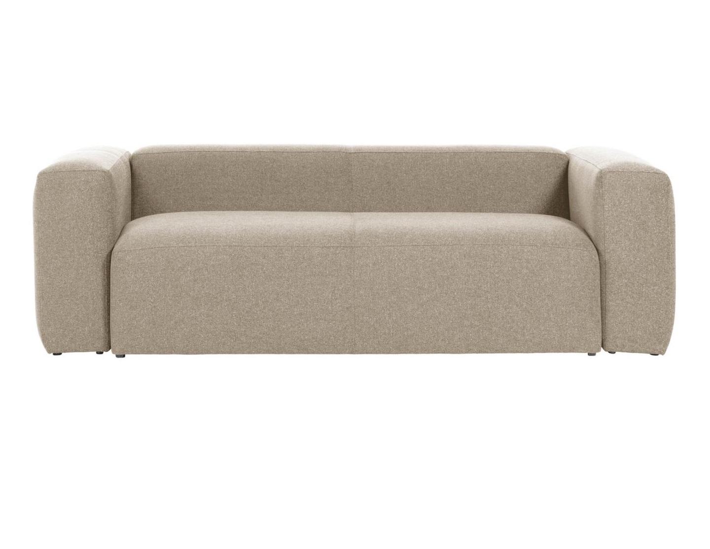 La forma диван трехместный blok бежевый 138326/138385