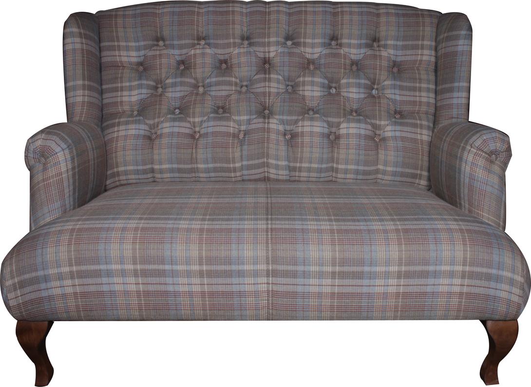 Диван ФлеммингДвухместные диваны<br>Двухместный уютный диван классического силуэта: высокая спинка, гнутые ножки, спинка декорирована каретной стежкой, обивка натуральным текстилем в мягких приглушенных тонах. Стильный вариант как для классического, так и для современного интерьера.<br><br>Материал: каркас-хвоя,<br>Обивка: 60%полиэстер, 40%шерсть<br><br>Material: Текстиль<br>Length см: 100.0<br>Width см: 135.0<br>Depth см: 135.0<br>Height см: 93.0<br>Diameter см: None
