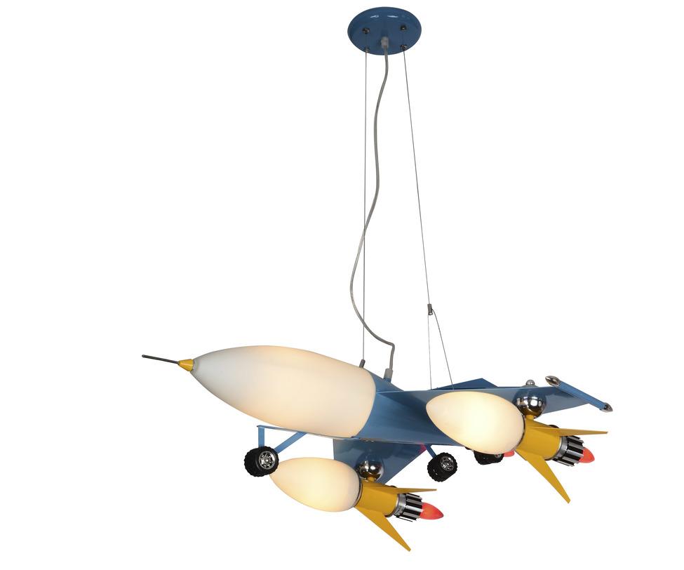 Подвесной светильник ШаттлПодвесные светильники<br>Типы ламп: E27 4*40w+E14 2*40w<br>Цвет: голубой<br><br>Material: Металл<br>Length см: 83<br>Width см: 62<br>Height см: 80