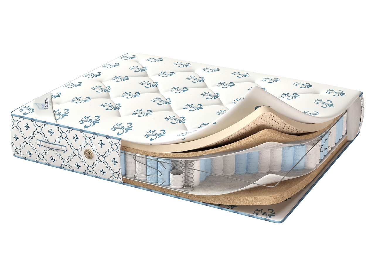 Матрас de luxe evro latex (corretto) белый 160.0x190.0x20.0 см.