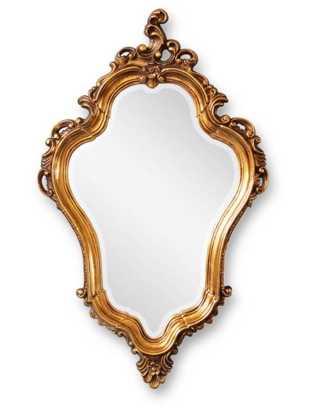 Зеркало LadyНастенные зеркала<br>Дизайн изящного зеркала LADY впитал в себя игривый характер стиля рококо с его тягой к пышности, декоративности, обилию золота, орнаментов и завитков. Сложная окраска под античное золото придает изделию оттенок старины и антикварности. Зеркало органично впишется в интерьер в дворцовом стиле или станет частью многоголосого хора стиля ар-деко, вновь набирающего популярность.<br><br>Material: Пластик<br>Length см: None<br>Width см: 60.5<br>Depth см: None<br>Height см: 98.5<br>Diameter см: None