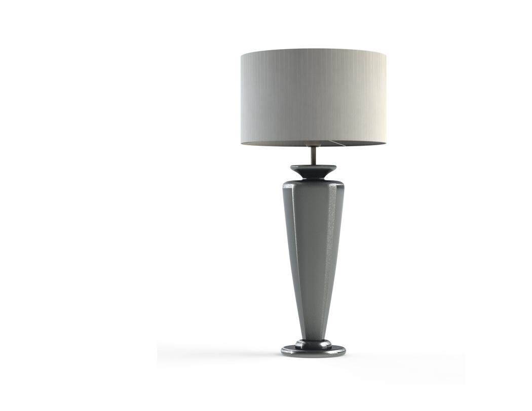 Настольная лампа Auriga silverДекоративные лампы<br>Материал: абажур — металлический каркас, лента органза; арматура — дерево, сталь нержавеющая.<br>Цоколь:1хЕ27<br>Мощность: мах КЛЛ 20 w, 220 в, шнур с выключателем.<br>Цвет: серебристый<br><br>Срок изготовления: 2-3 недели<br><br>Material: Дерево<br>Length см: 40.0<br>Width см: 40.0<br>Depth см: 40.0<br>Height см: 85.0<br>Diameter см: 40.0