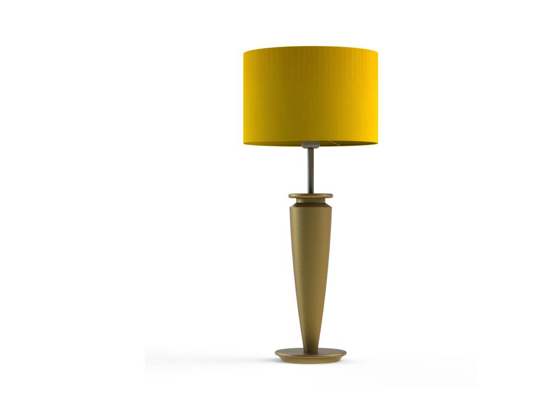 Настольная лампа Tucana goldДекоративные лампы<br>Материал: абажур — металлический каркас, лента органза; арматура — дерево, сталь нержавеющая.<br>Цоколь:1хЕ27<br>Мощность: мах КЛЛ 20 w, 220 в, шнур с выключателем.<br>Цвет: золотой<br><br>Срок изготовления: 2-3 недели<br><br>Material: Дерево<br>Length см: 30.0<br>Width см: 30.0<br>Depth см: 30.0<br>Height см: 78.0<br>Diameter см: 30.0