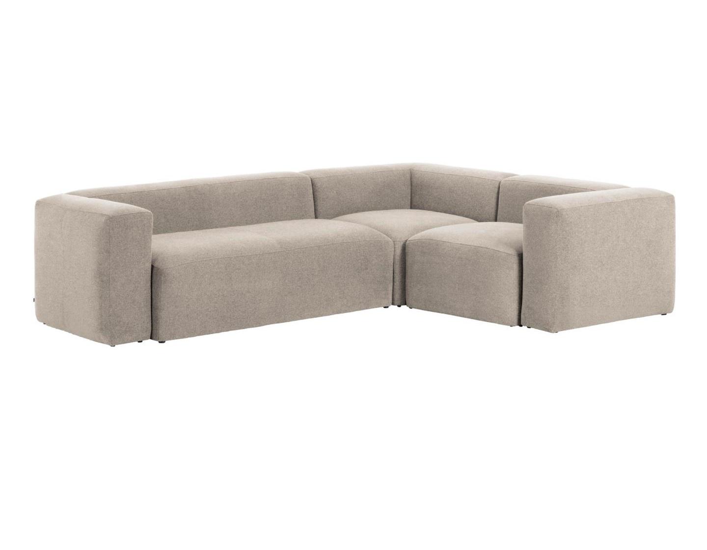 La forma угловой трехместный диван blok бежевый 140812/6