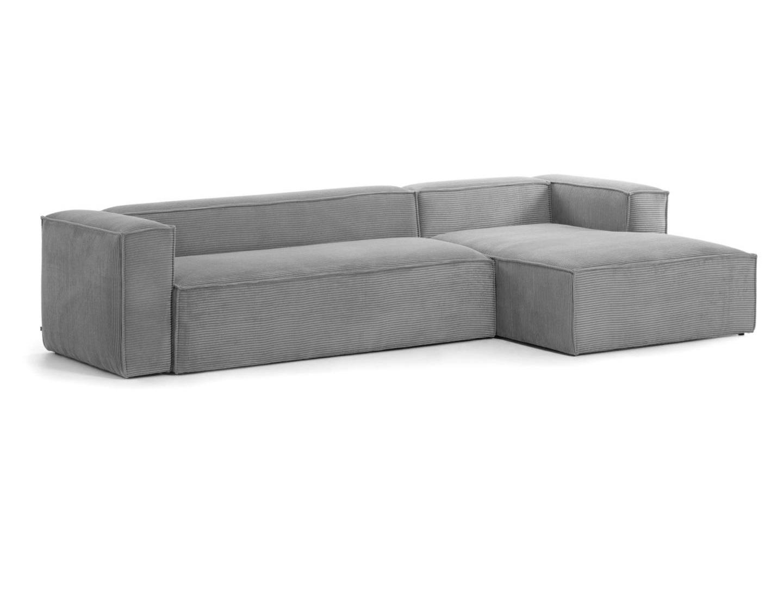 La forma диван трехместный blok правый шезлонг серый 140813/1