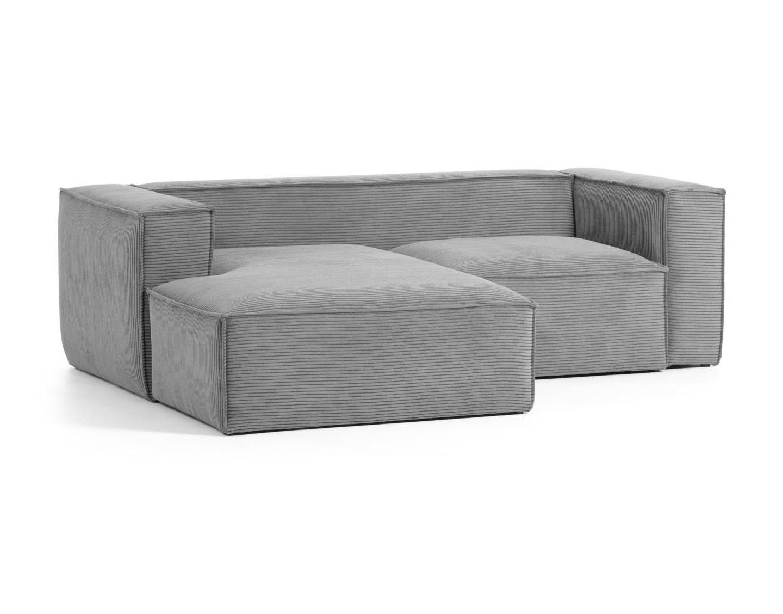 La forma диван двухместный blok левый шезлонг серый 140814/1