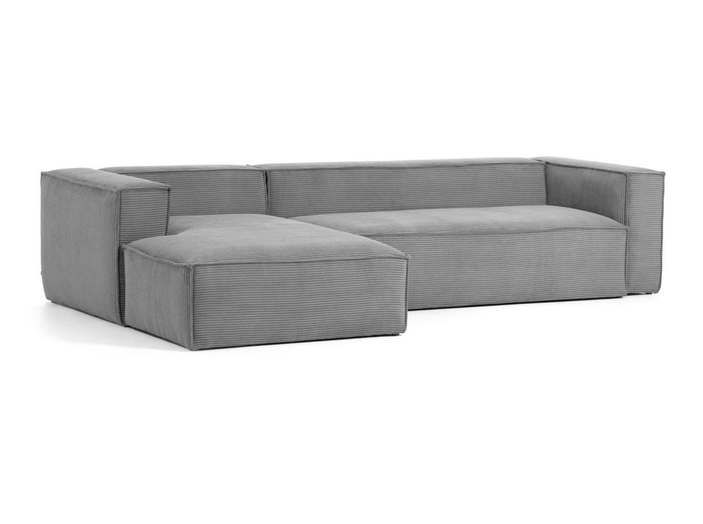 La forma диван трехместный blok левый шезлонг серый 140816/140871