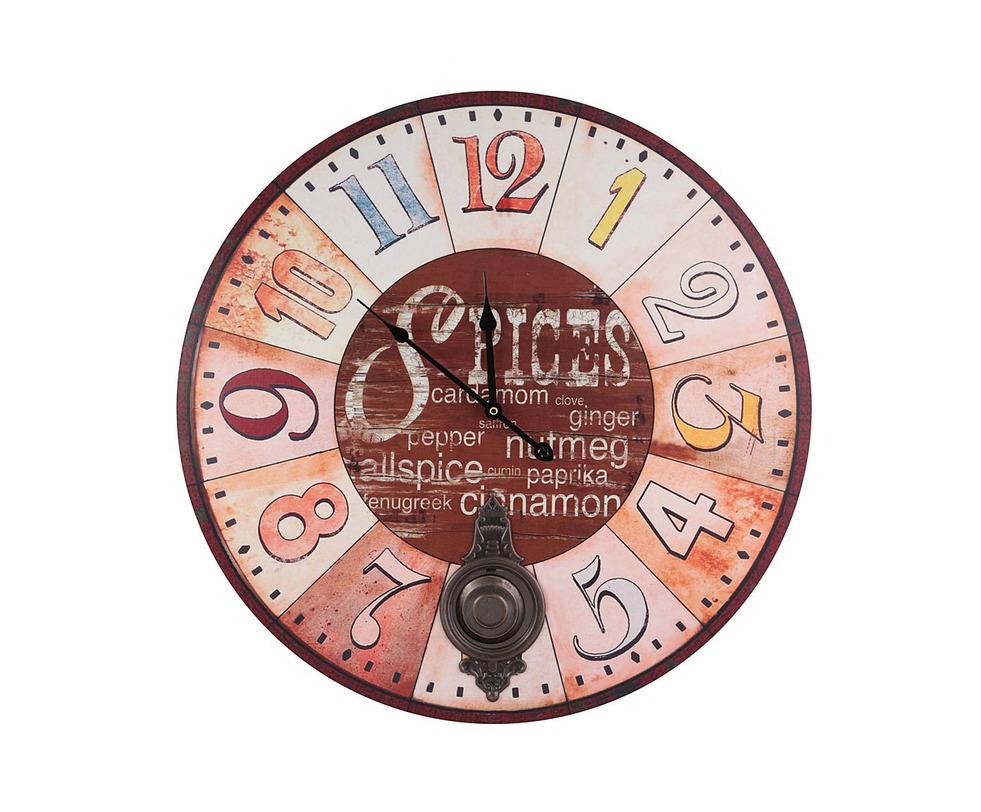 Часы настенныеНастенные часы<br>Материал: МДФ, металл<br><br>Material: МДФ<br>Length см: None<br>Width см: None<br>Depth см: 2.0<br>Height см: None<br>Diameter см: 58.0