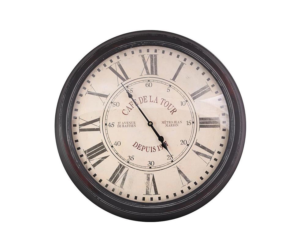 ЧасыНастенные часы<br>Материал: стекло, металл<br><br>Material: Металл<br>Глубина см: 3