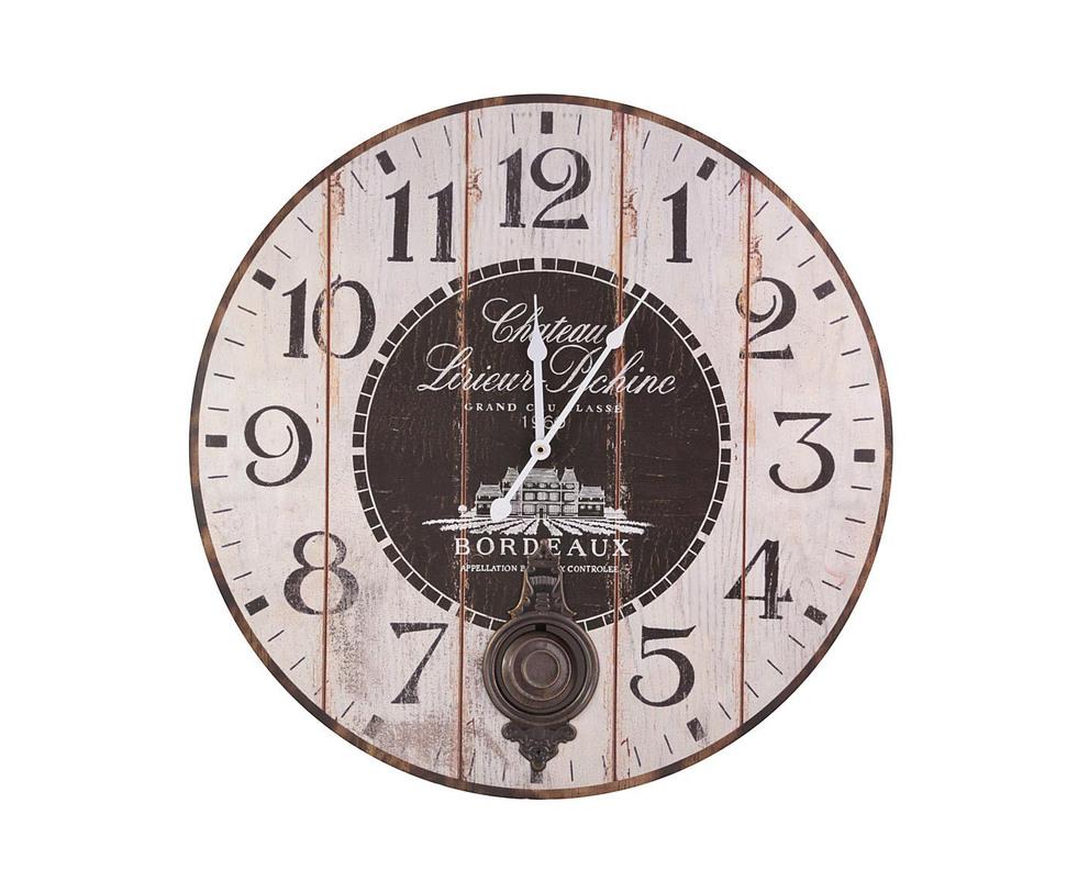 Часы настенныеНастенные часы<br>Винтажные часы из состаренного дерева напомнят о тех славных днях, когда ар-деко еще было &amp;quot;недавним прошлым&amp;quot;, а современные стили дизайна только зарождались. Они могут быть важным акцентом в гостиной или на кухне или просто выступить в качестве всегда актуального подарка.<br><br>Material: Дерево<br>Length см: None<br>Width см: None<br>Depth см: 2.0<br>Height см: None<br>Diameter см: 58.0