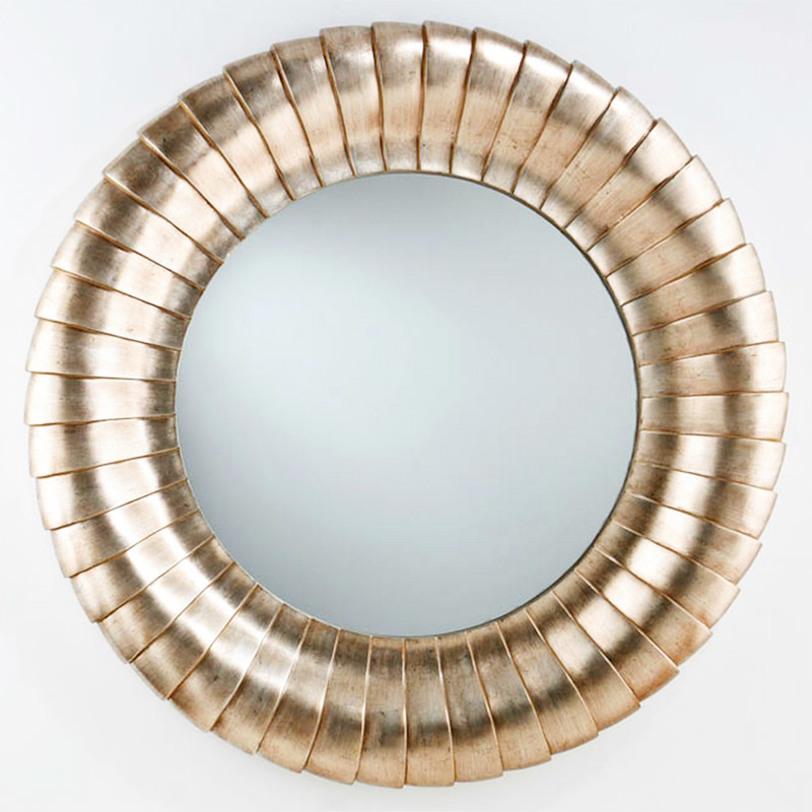 ЗеркалоНастенные зеркала<br>Декоративное круглое зеркало в серебристой раме модернистского стиля. Выполнено в виде бесконечной серии вставленных друг в друга колец.<br><br>Material: Дерево<br>Length см: None<br>Width см: None<br>Depth см: 11.0<br>Height см: None<br>Diameter см: 130.0