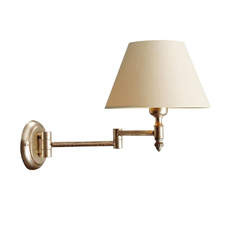 БраБра<br>Металлическая арматура бра золотого цвета. Светильник можно вращать в разные стороны. Поставляется без абажура. Дизайн: Karen Lenz.<br><br>Количество лампочек: 1<br>Мощность: 1 x 70 Вт<br>Тип лампы: E27<br><br>Material: Металл<br>Width см: 23<br>Depth см: 40<br>Height см: 25